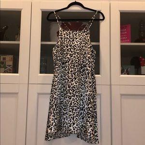 New Stone Row Leopard Print Slip Dress, Size M & L